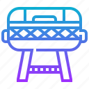 grill, outdoor, picnic, portable, tools icon