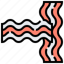 bacon, breakfast, grill, pork, strip icon