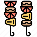 barbecue, cookout, grill, party, skewer icon