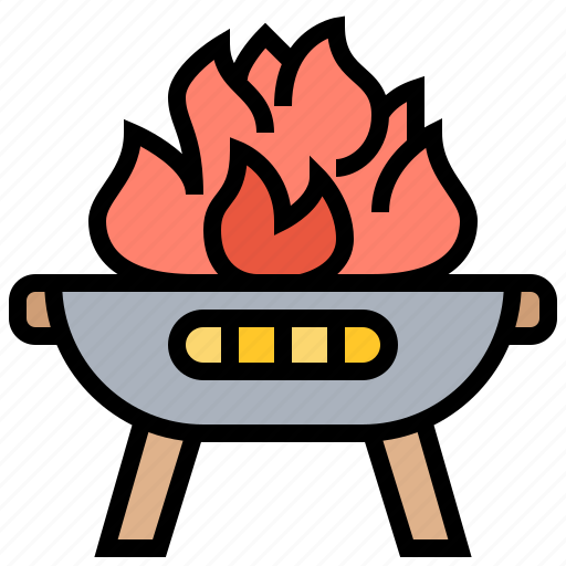 charcoal, fire, flame, gridiron, grill icon