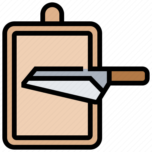 board, chopping, kitchen, knife, utensil icon