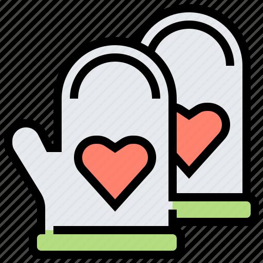 glove, heat, mitt, mittens, resistant icon