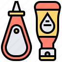 ketchup, liquid, mustard, sauce, vinegar icon
