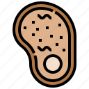 food, grill, meat, pork, steak icon