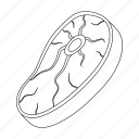 cooking, food, meat, piece, steak icon