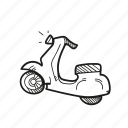 motorbike, motorcycle, romantic, scooter, transport, vespa icon