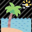 beach, coconut, sea, tree icon