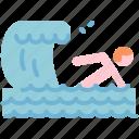 beach, swim, swimming, wave icon