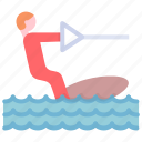 activity, beach, summer, wakeboarding icon