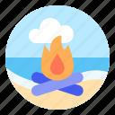 bonfire, camp, campfire, fire, holiday, vacation
