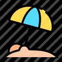 beach umbrella, sun umbrella, umbrella, beach, summer, vacation, holidays