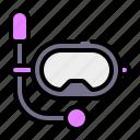 scuba mask, scuba diving, diving mask, snorkeling, holidays, diving glasses, summer