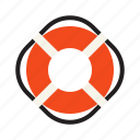 boat, help, lifesaver, water icon