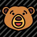 bear, wildlife, mammal, animal, zoo, happy