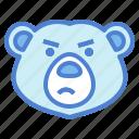 bear, wildlife, mammal, animal, zoo, angry