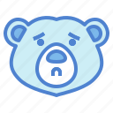 bear, wildlife, mammal, animal, zoo, anxious
