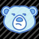 bear, wildlife, mammal, animal, zoo, bored
