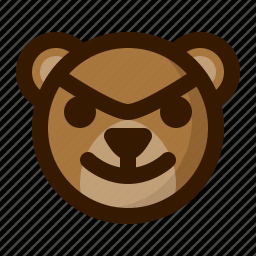 avatar, bad, bear, emoji, face, profile, teddy icon