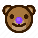 avatar, bear, clown, emoji, face, profile, teddy icon
