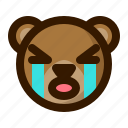 avatar, bear, crying, emoji, face, profile, teddy