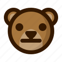 avatar, bear, emoji, face, neutral, profile, teddy icon