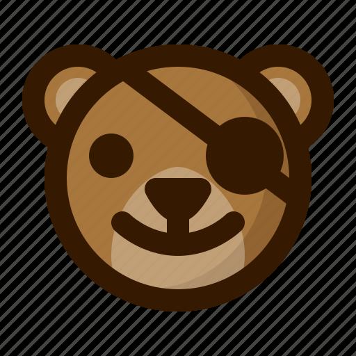 avatar, bear, emoji, face, pirate, profile, teddy icon