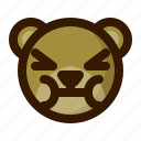 avatar, bear, emoji, face, profile, sick, teddy icon