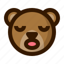 avatar, bear, emoji, face, profile, sleep, teddy icon