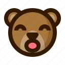 avatar, bear, emoji, face, profile, surprised, teddy icon