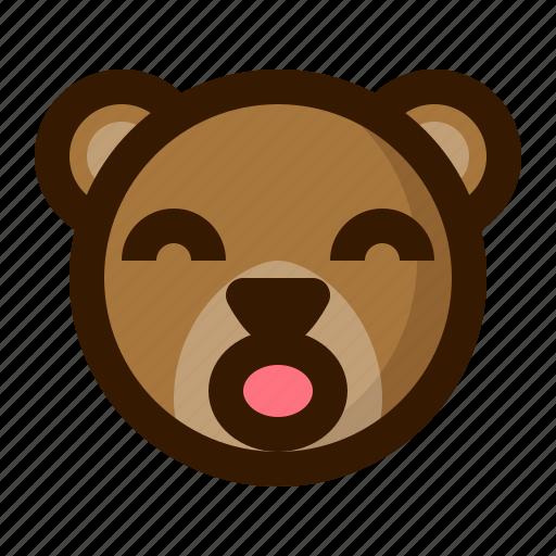 avatar, bear, emoji, face, profile, surprised, teddy icon