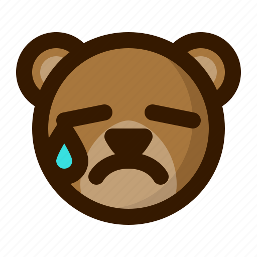 avatar, bear, emoji, face, profile, tear, teddy icon
