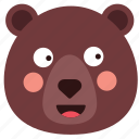 bear, emoji, emoticon, smile, smiley