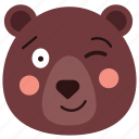 bear, blink, emoji, emoticon