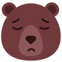 bear, emoji, emoticon, sad