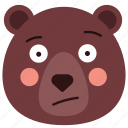 bear, doubt, emoji, emoticon