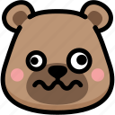 bear, dizzy, emoji, emotion, expression, face, feeling icon