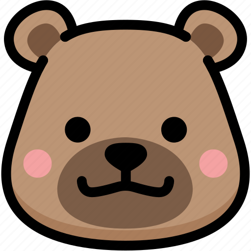 bear, emoji, emotion, expression, face, feeling, grinning icon