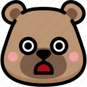 bear, emoji, emotion, expression, face, feeling, stunning icon