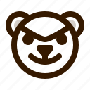avatar, bad, bear, emoji, face, profile, teddy icon