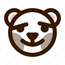 avatar, bear, blush, emoji, face, profile, teddy icon