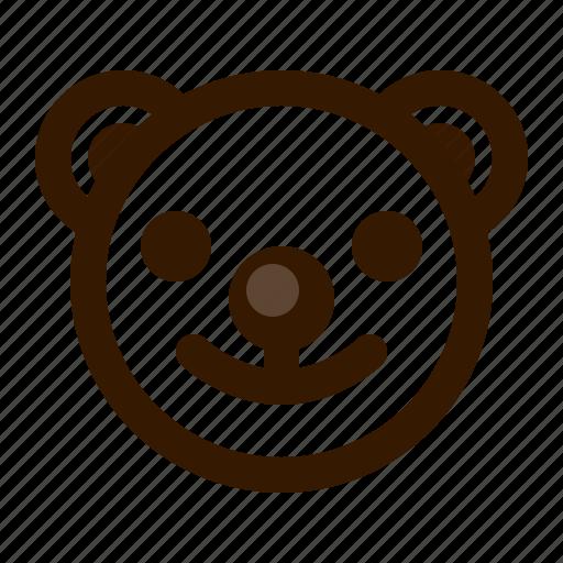 avatar, bear, clown, emoji, face, profile, teddy icon