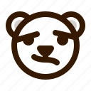 avatar, bear, confused, emoji, face, profile, teddy icon