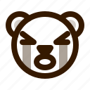 avatar, bear, crying, emoji, face, profile, teddy icon