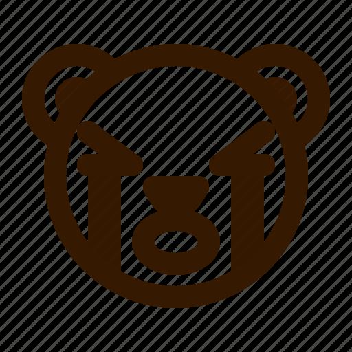 avatar, bear, crying, emoji, face, profile, teddy icon