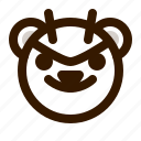 avatar, bear, devil, emoji, face, profile, teddy icon