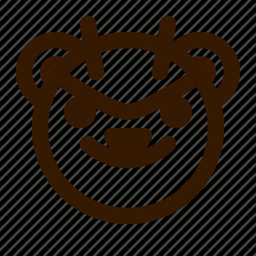 avatar, bear, devil, emoji, face, profile, teddy icon