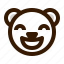 avatar, bear, emoji, face, glad, profile, teddy icon