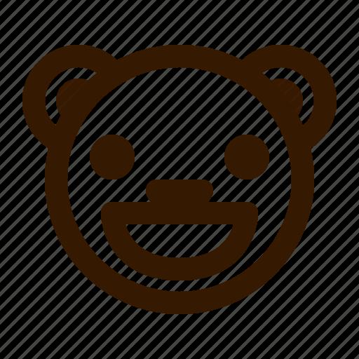 avatar, bear, emoji, face, grin, profile, teddy icon