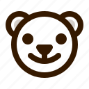 avatar, bear, emoji, face, happy, profile, teddy icon