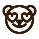 avatar, bear, emoji, face, love, profile, teddy icon